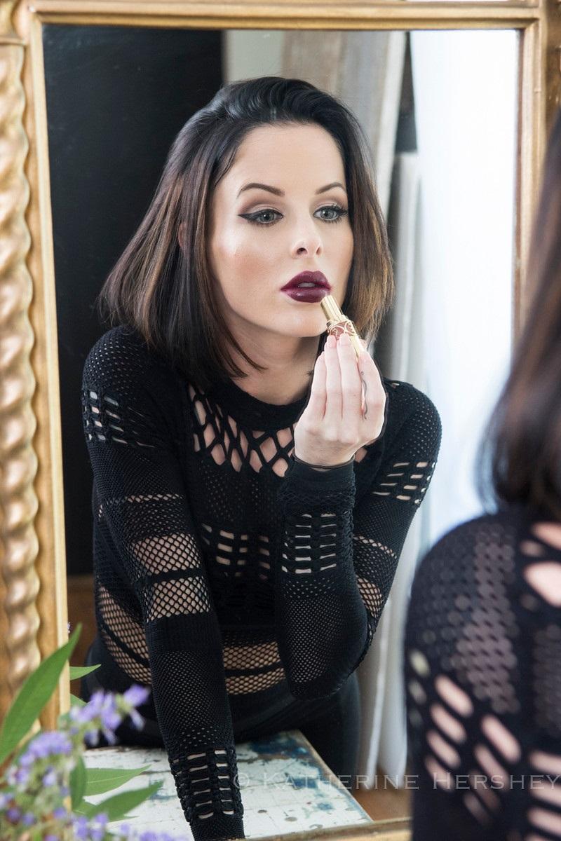 nicole with lipstick