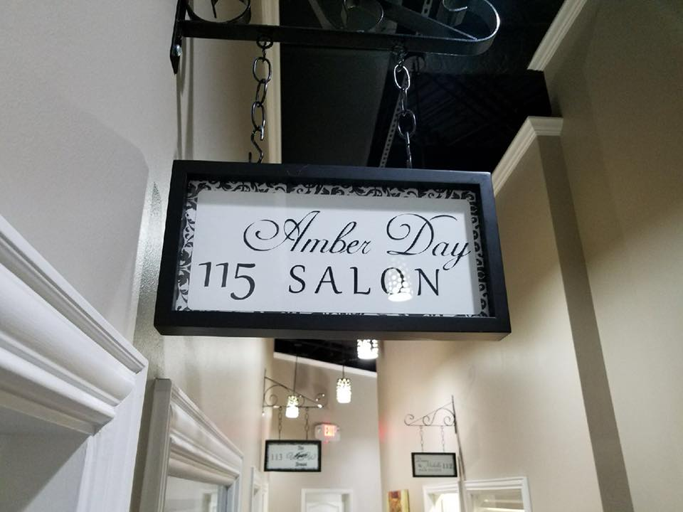amber day salon sign photo